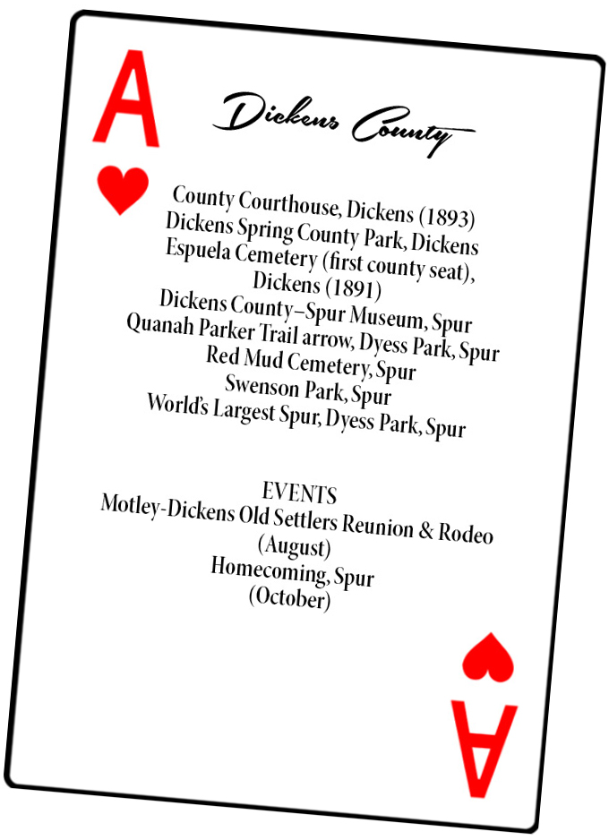 Dickens County playing card