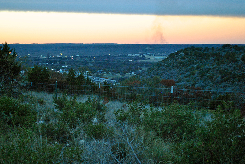 View from overlook outside Junction_ Texas