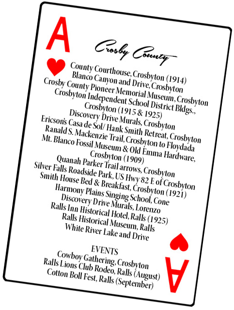 Crosby County card