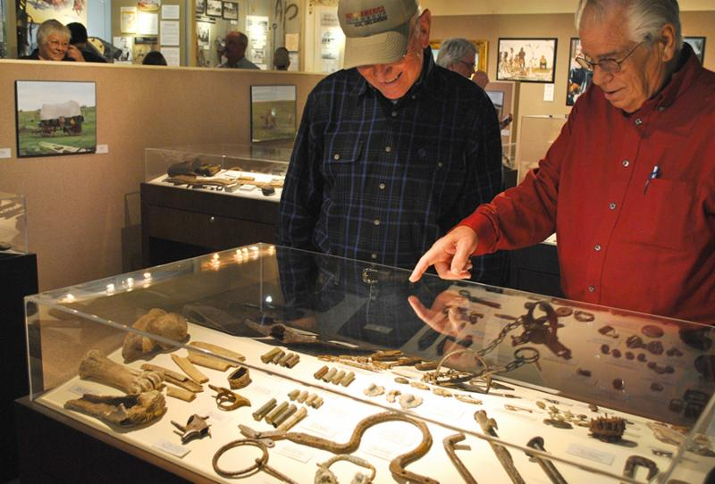 Artifacts on display at White Deer Land Museum