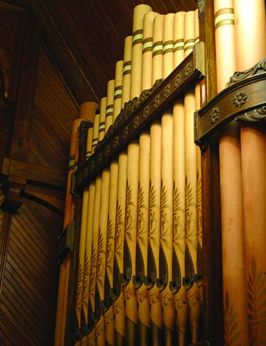 Clarendon church organ