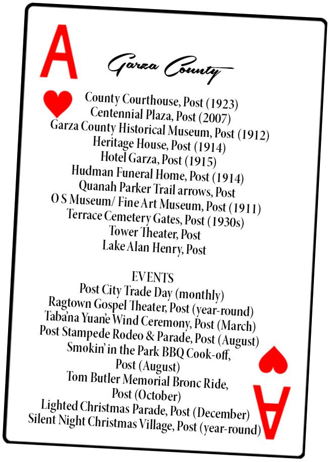 Garza County card