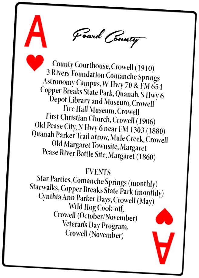 Foard County Playing Card