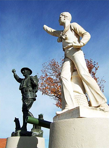 Crowell's damaged World War I monuments