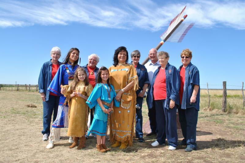 Quanah Parker Trail arrow dedication_ Mobeetie _Wheeler County_