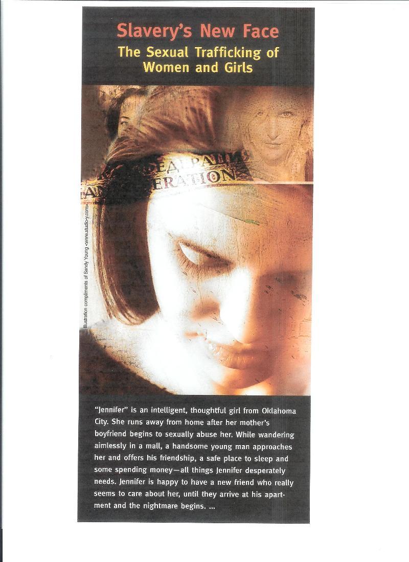 Trafficking Rack Card