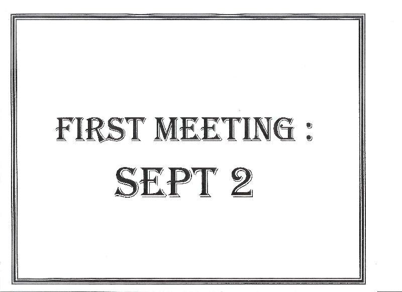 First Meeting Sept 2
