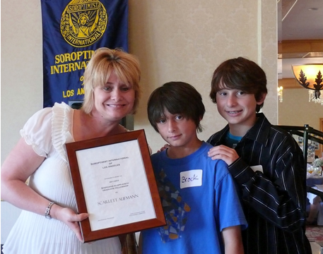 Scarlett Aufmann and her sons