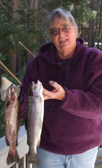 Bev Johnson with trout
