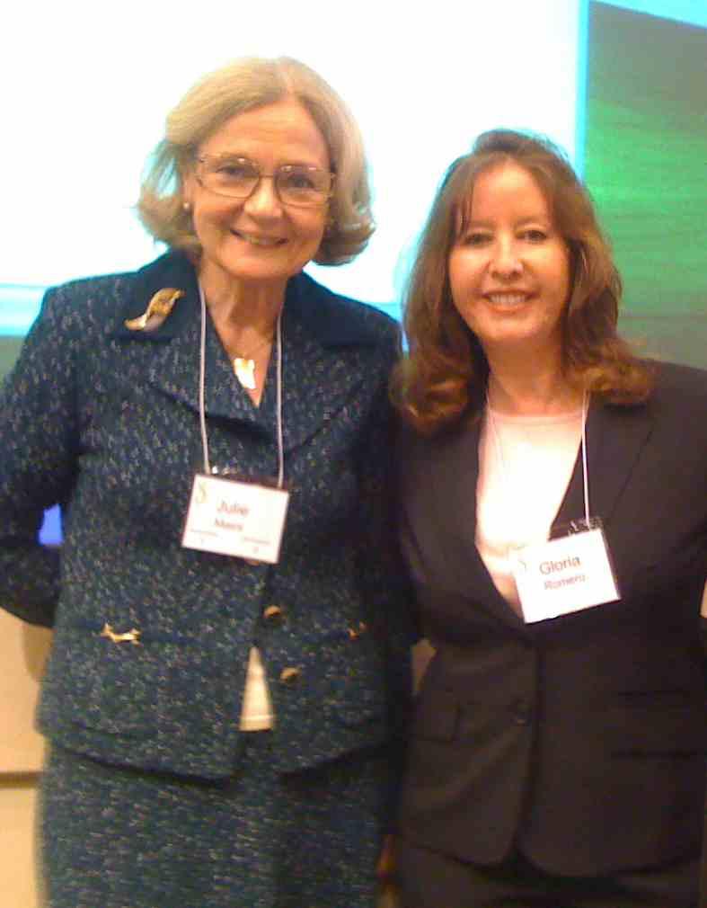 Julie Mairs and Sen. Gloria Romero