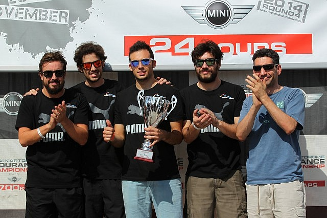 Fernando Alonso's Puntonas squad won the Best New Team award for their efforts in the Kartdrome 24 Hours