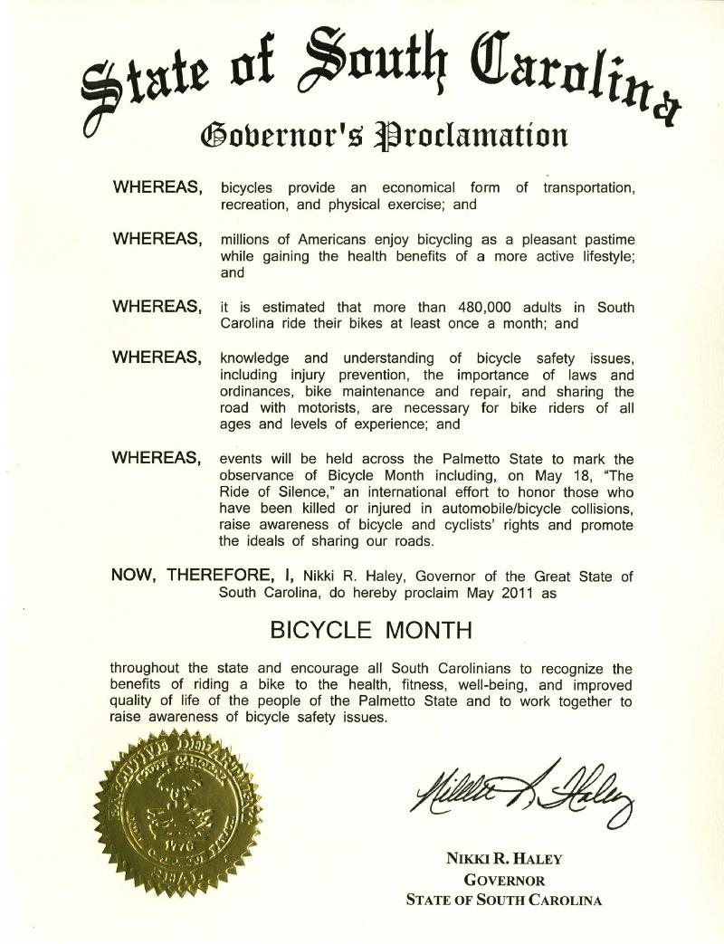 2011 proclamation