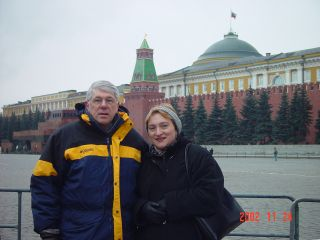 Gary and Galina in Russia