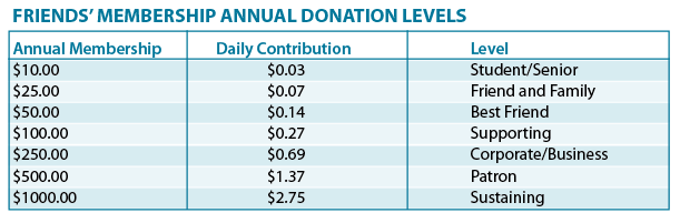 Friends of Chelsea District Library donation levels