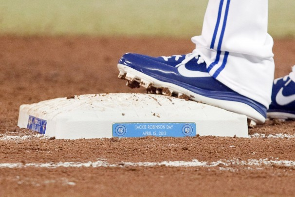 foot on first base bag