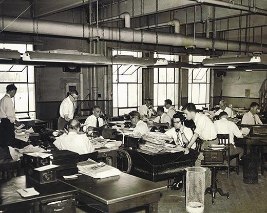 old newsroom