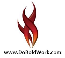 BW flame with web address