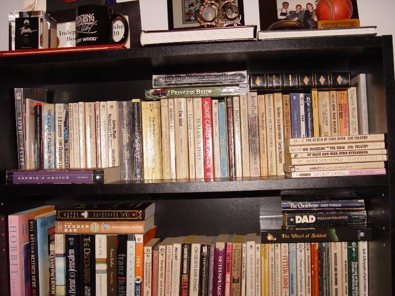russ woody bookshelf