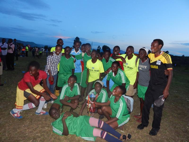 girls_ championship soccer team