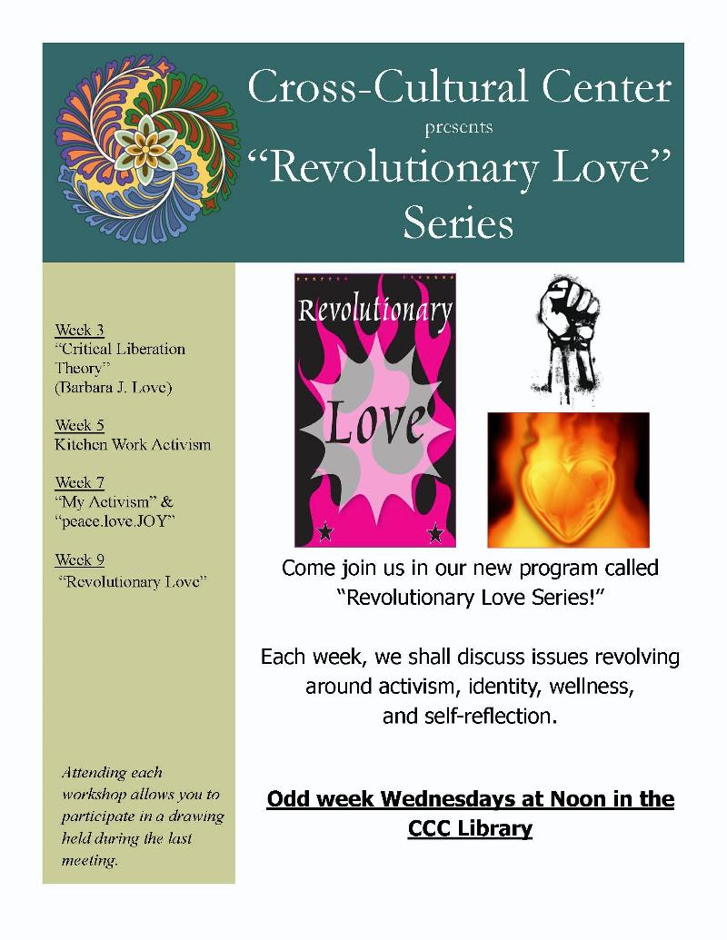 revoluntionary love flyer