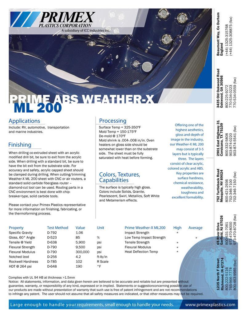 Prime Weather-X ML 200