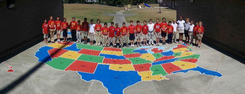 Stewart Elementary U.S.  Map