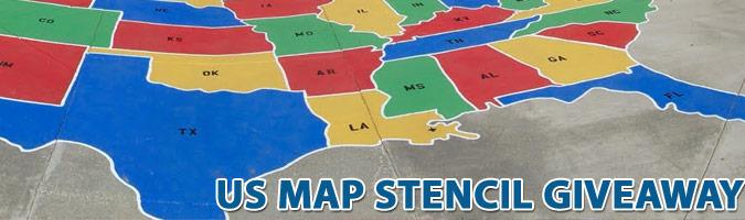 U.S. Map Stenciil Give-a-way