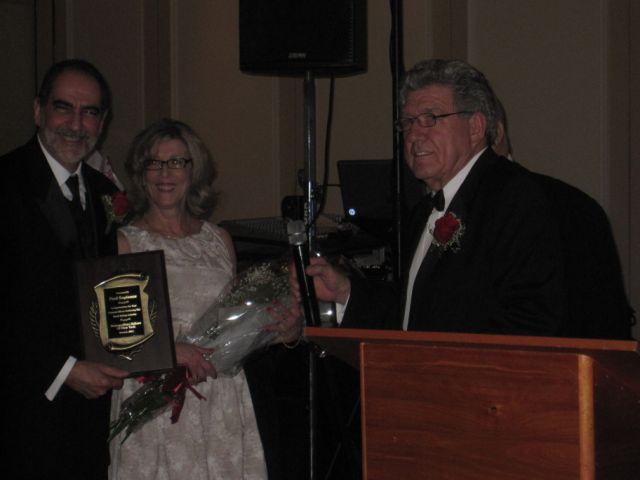 Paul recieving award