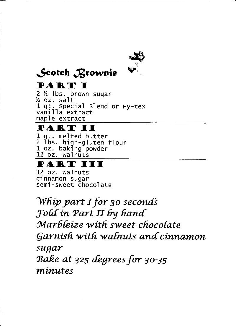 Scotch Brownies Recipe