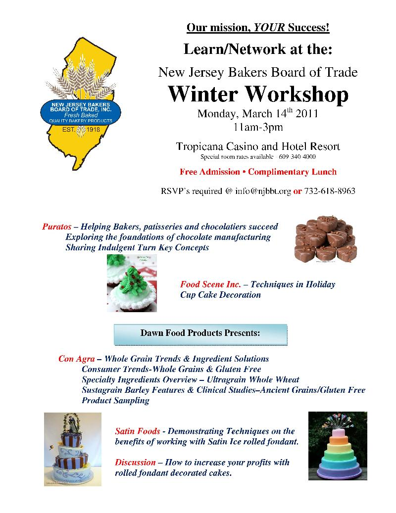 NJ Bakers Workshop