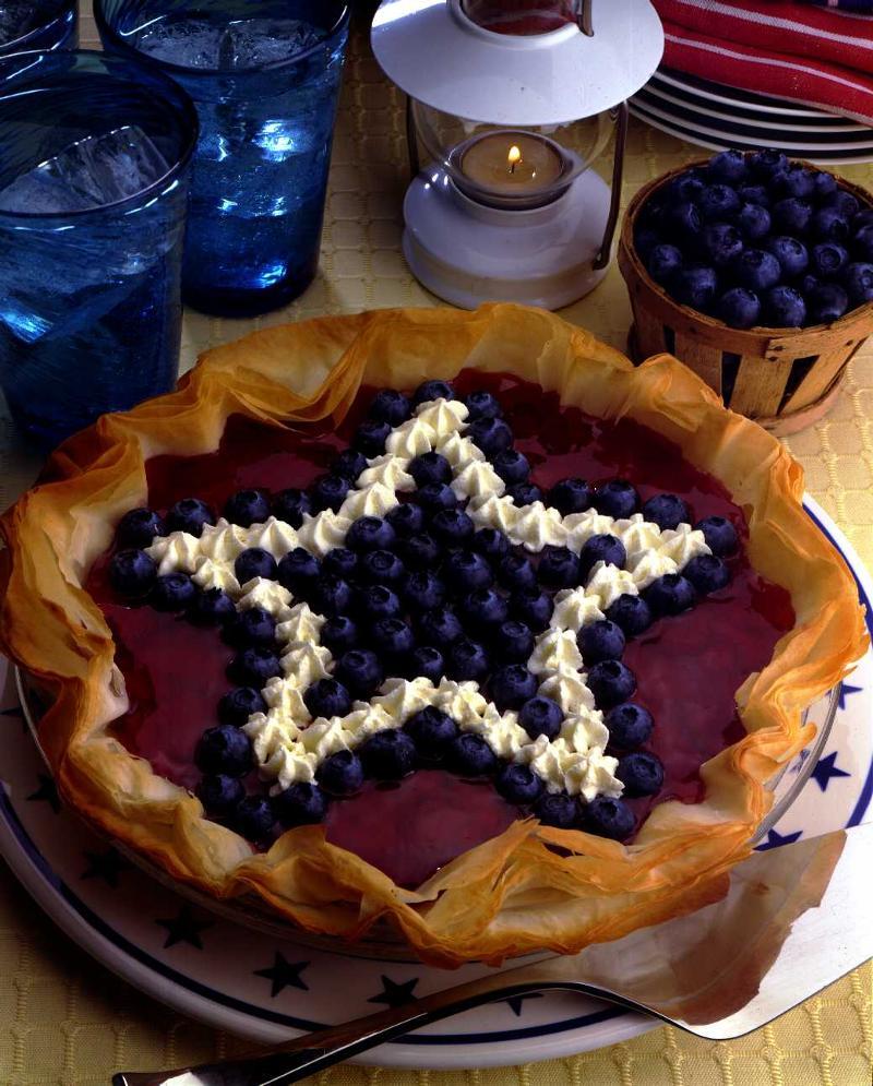 Blueberry Star pie