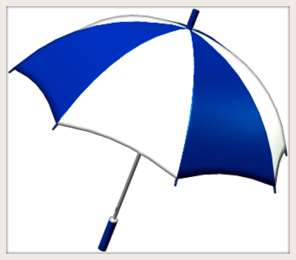 TTF Blue White Umbrella