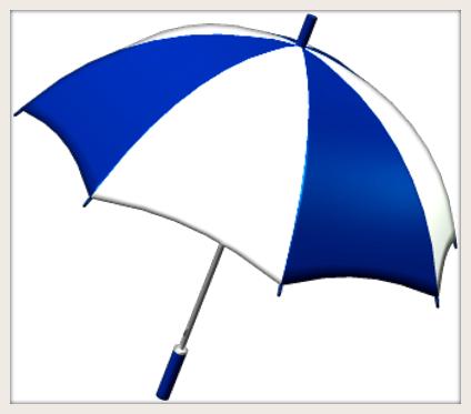 TTF Blue White Umbrella