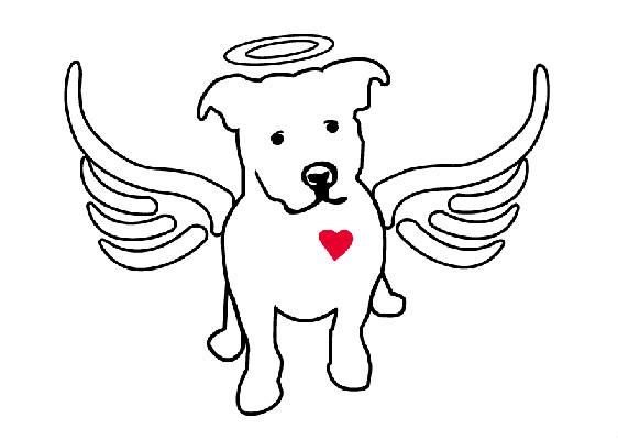 Image result for black and white dog angel