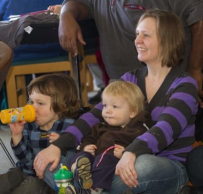 Family enjoying the 2013 MLK Festival