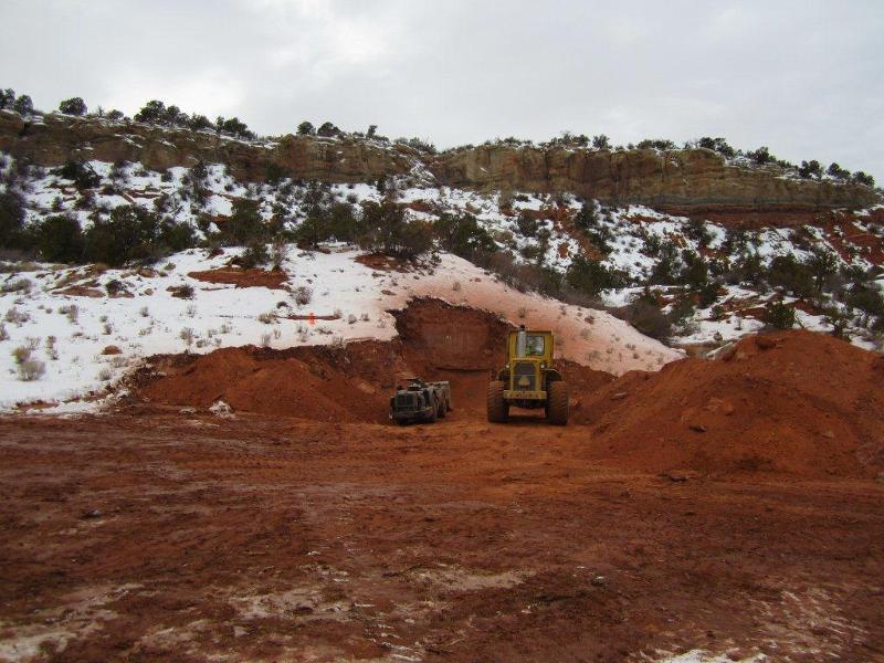 Portal excavation at La Sal 2 mine