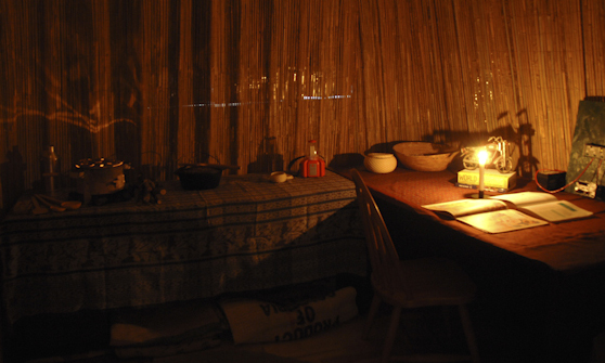 Hut with Candle