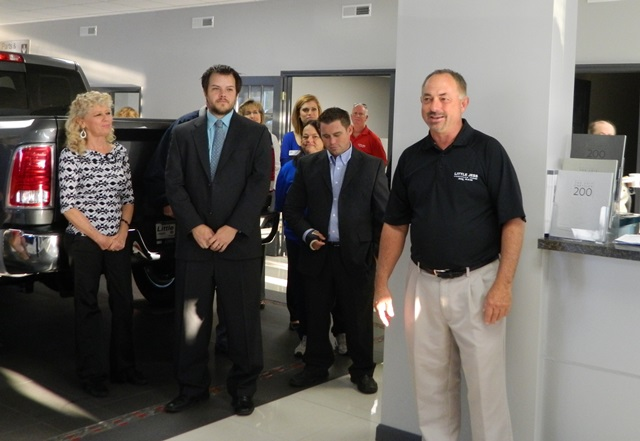 A Large Crowd Of Chamber Members And Guests Packed The Showroom Of Little  Jess Motor Company For The September Business Before Hours.