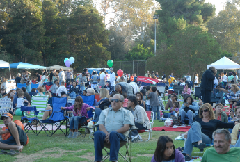 Many families came out to check out the Park Santiago event.