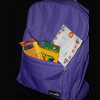 One of the 165+ stuffed backpacks handed out at the outreach event.