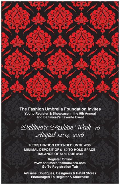 Baltimore Fashion Week Model Call