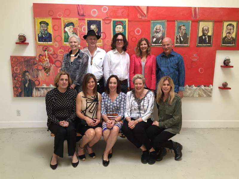 Director David Walker, Darcy Walker, Curator Joanne Northrup, and fellow board members