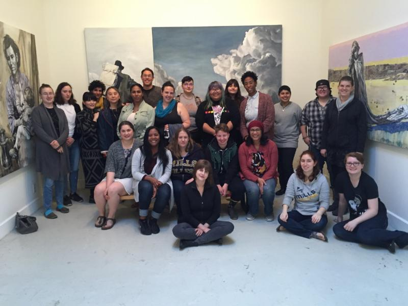 Adv. Painting Class at Mills College