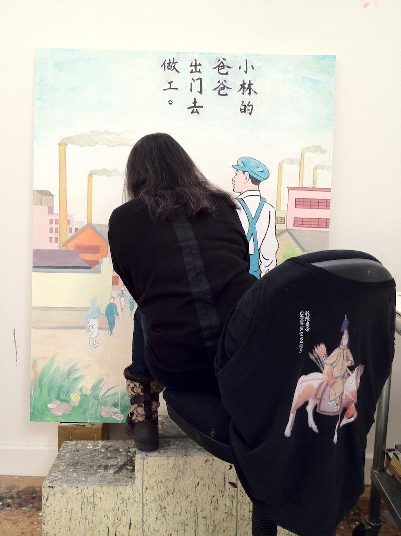 Hung Liu Painting, 2012