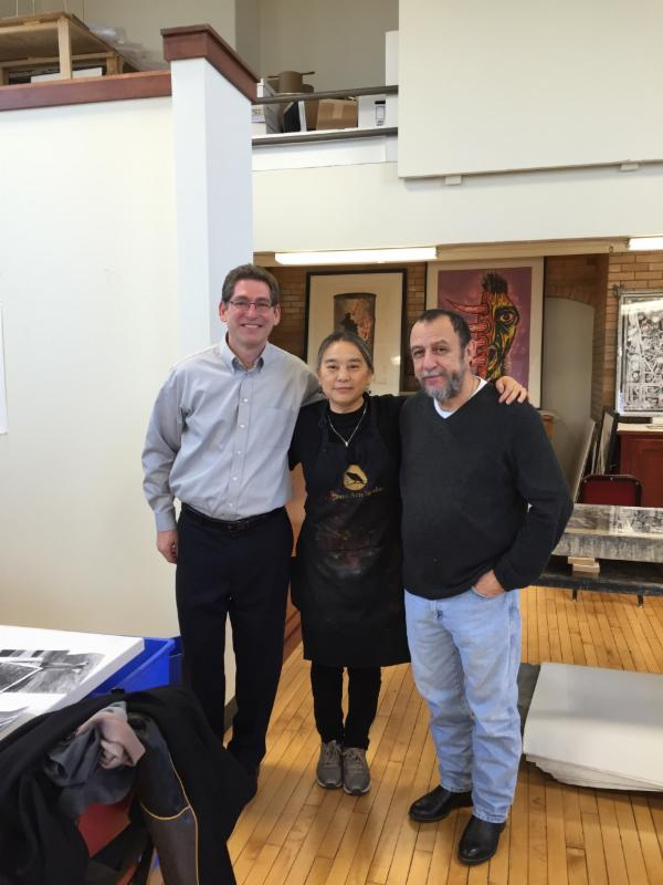 with Doug Franson Assistant Director and  the Director Joe Segura of Segura Arts Studio, University of Notre Dame, IN
