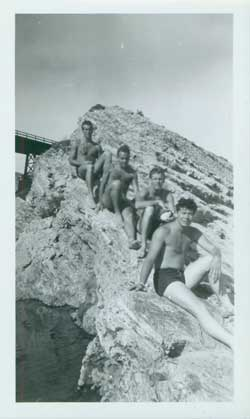 Boys on the rocks circa WWII