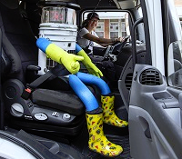 HitchBot hitching ride