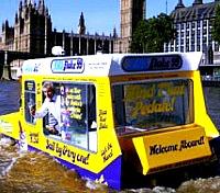 amphibious  ice cream van
