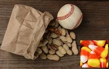 peanuts bag baseball