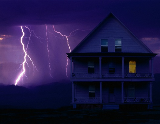lightning and house